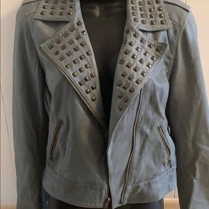 Trouve Grey leather jacket